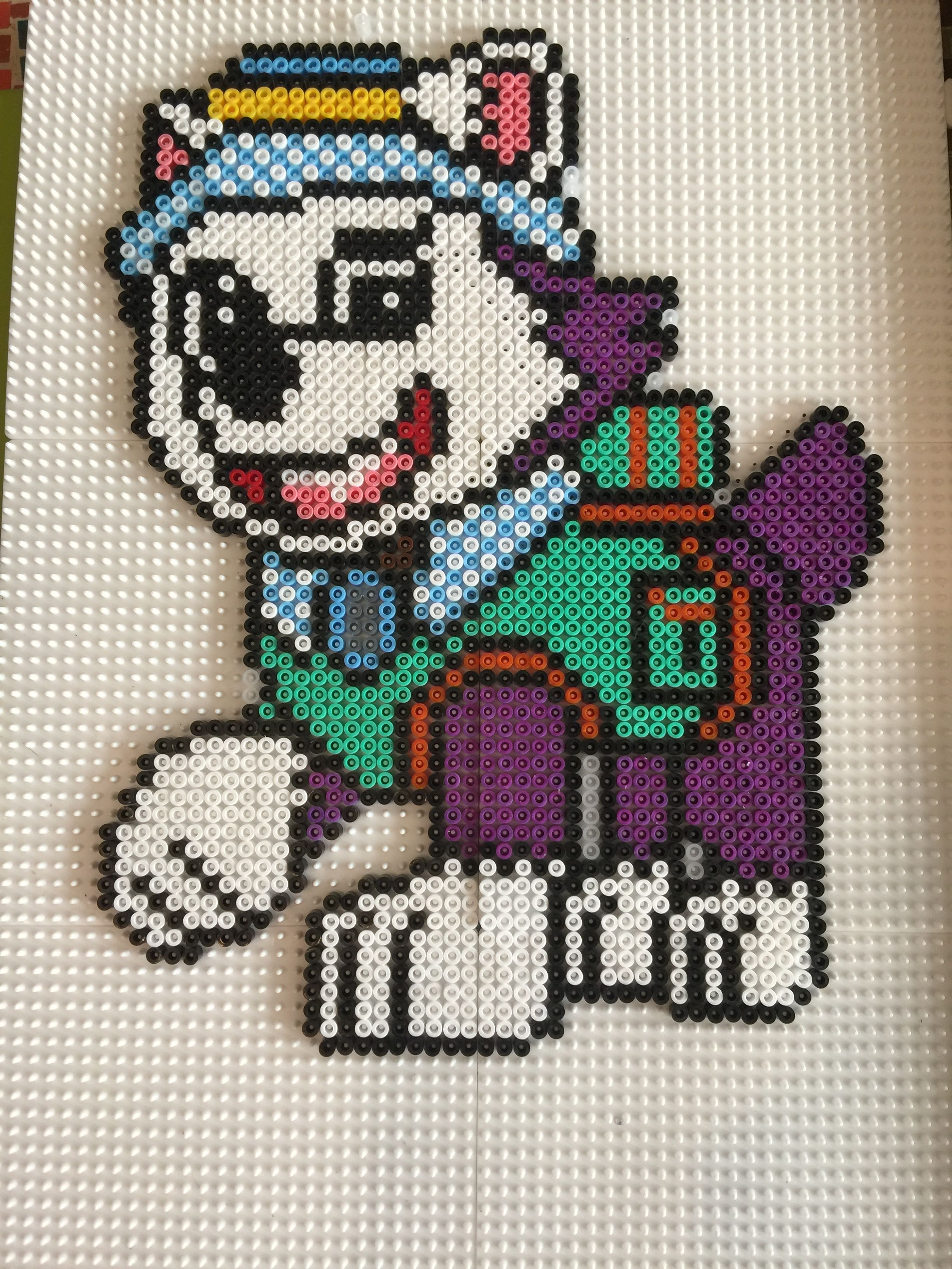 Skye From Paw Patrol Brick Multi Stitch Pattern 7