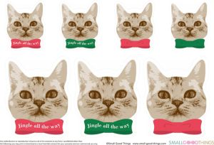 Free Printable Holiday Gift Tags For Cat Lovers Print It Holiday