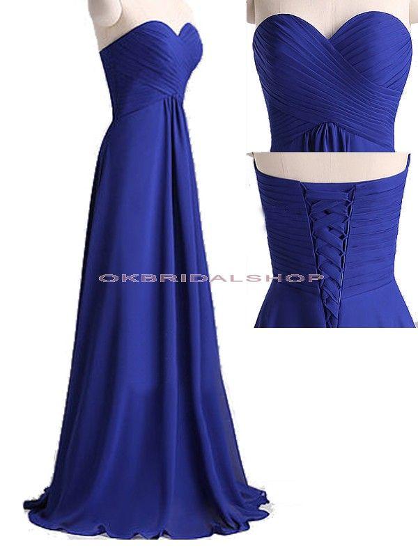 long bridesmaid dresses, royal blue bridesmaid dress ...