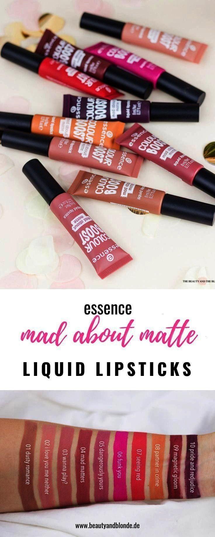 Sortiment die mad about matte Liquid Lipsticks mit Swatches und ... Neu im essence Sortiment die