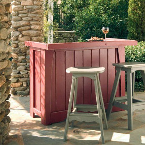 Perfect Uwharrie Companion Outdoor Backless Bar Stool   5061 000