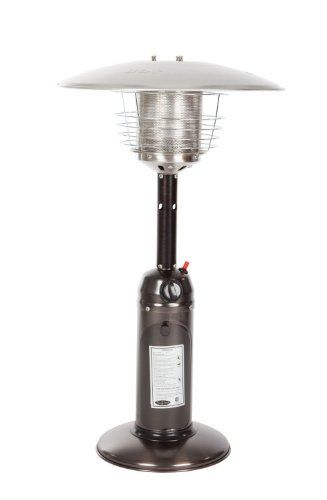 Fire Sense Propane Table Top Patio Heater Old World Bronze With