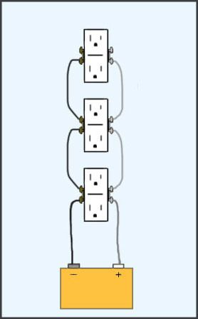 this site has the best diagrams for home wiring i've seen  simple and  elegant  #electric #wiring #schematic #home #receptacle #outlet #switch | ac/dc