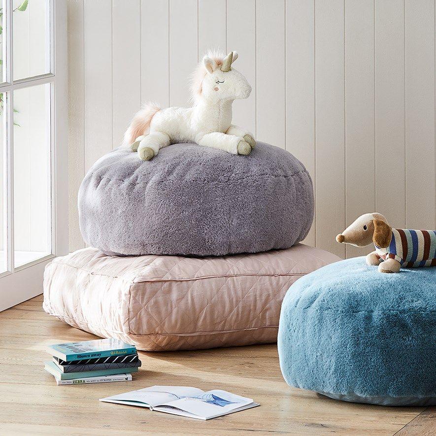 Adairs kids faux fur floor cushion home gifts