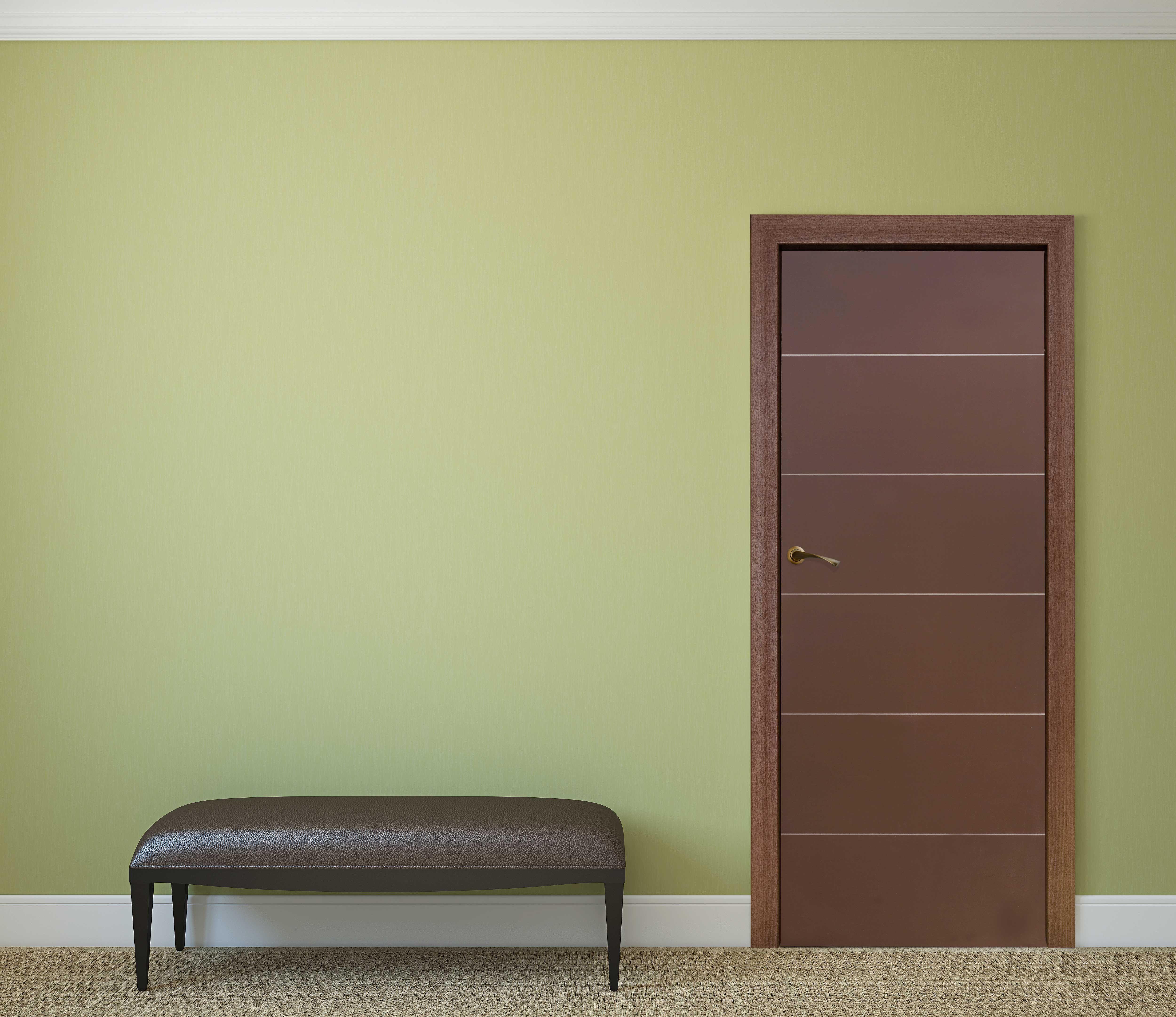 Puerta para interiores Lucero. Color chocolate, acabado brillante. Medidas:  70x213cms.   Colores para recamaras, Puerta para interior, Decoración de  unas