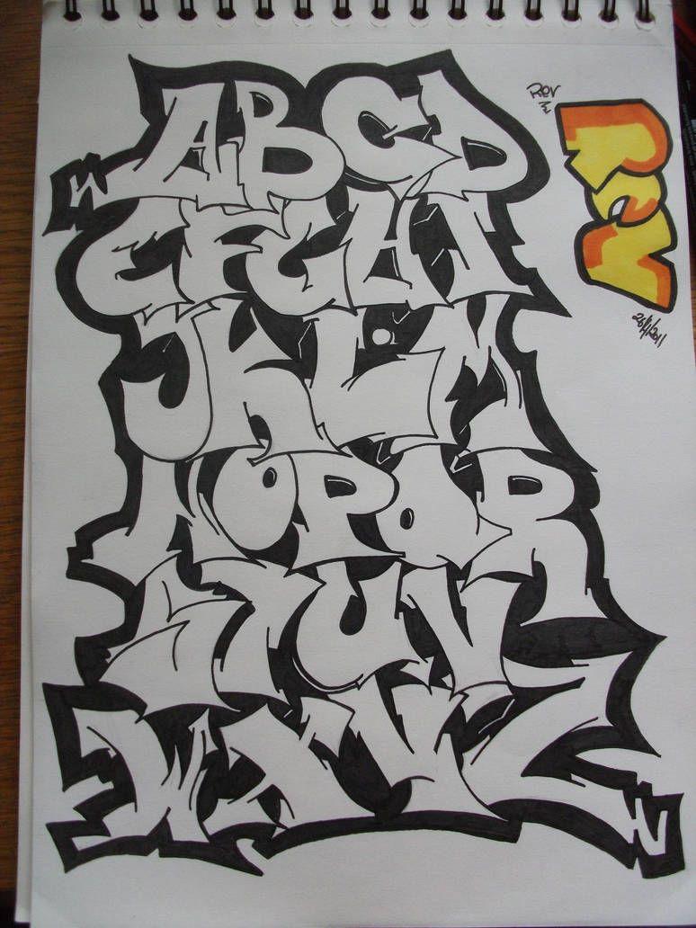 Graffiti Alphabet By Replicamask グラフィティフォント ストリートアート グラフィティ