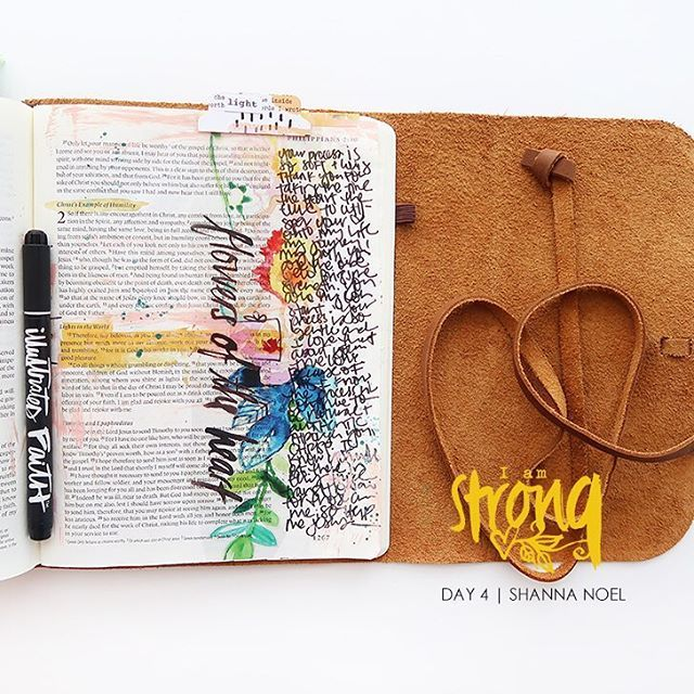 Hi there sweet friends @shannanoel here and I just finished my I Am Strong kit today written by @wilnafurstenberg for @illustratedfaith and @dayspringcards and I wanted to share my full journey with you through this kit. I will be sharing all 14 entries before the day is over so please stay tuned!!! From my original post: Hello friend - how are you doing working through the I am Strong devotional? I find myself amazed at how God works and His wonderful timing. As I work through this and see…