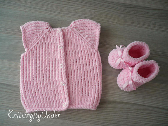 43bfdc3261422 Pink baby girl winter set Baby girl knit outfit Baby girl knitted ...