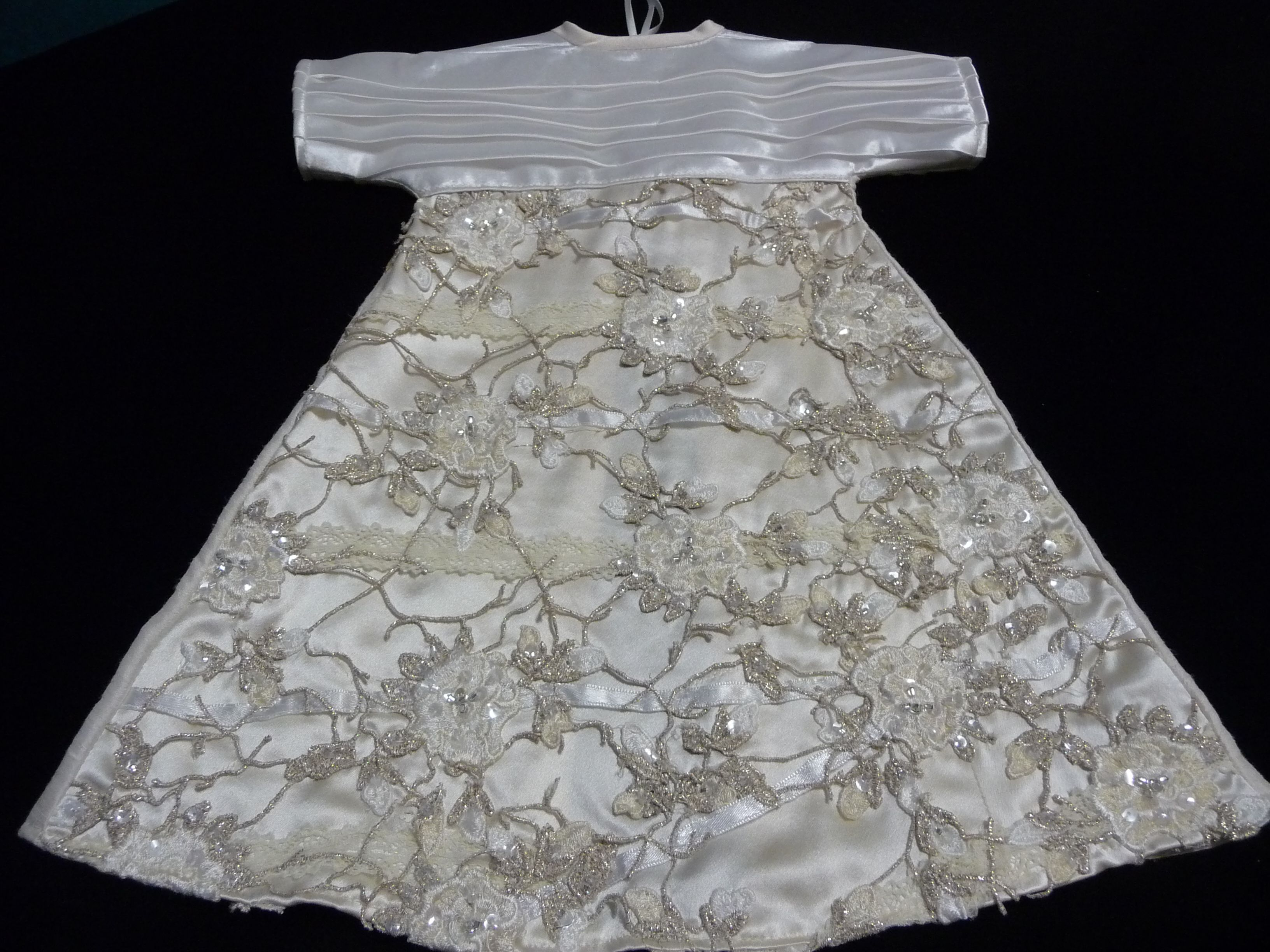 Angel gown with heavily embellished skirt.