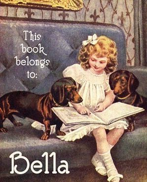 Girl reads to doxies