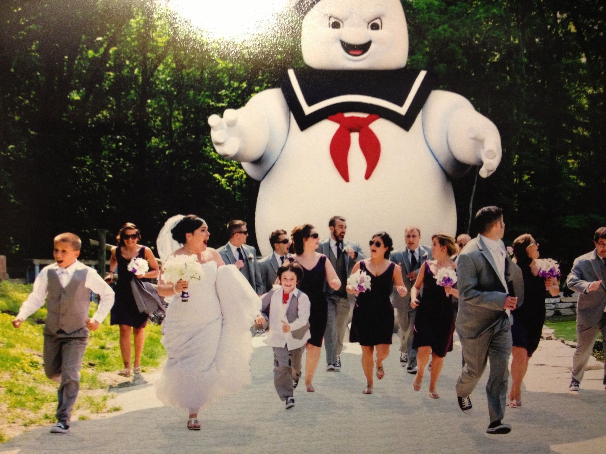 Stay Puft marshmallow man attacks the wedding party! #Ghostbusters