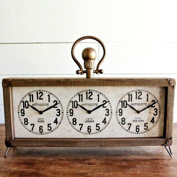 Multi World Time Zone Desk Clock