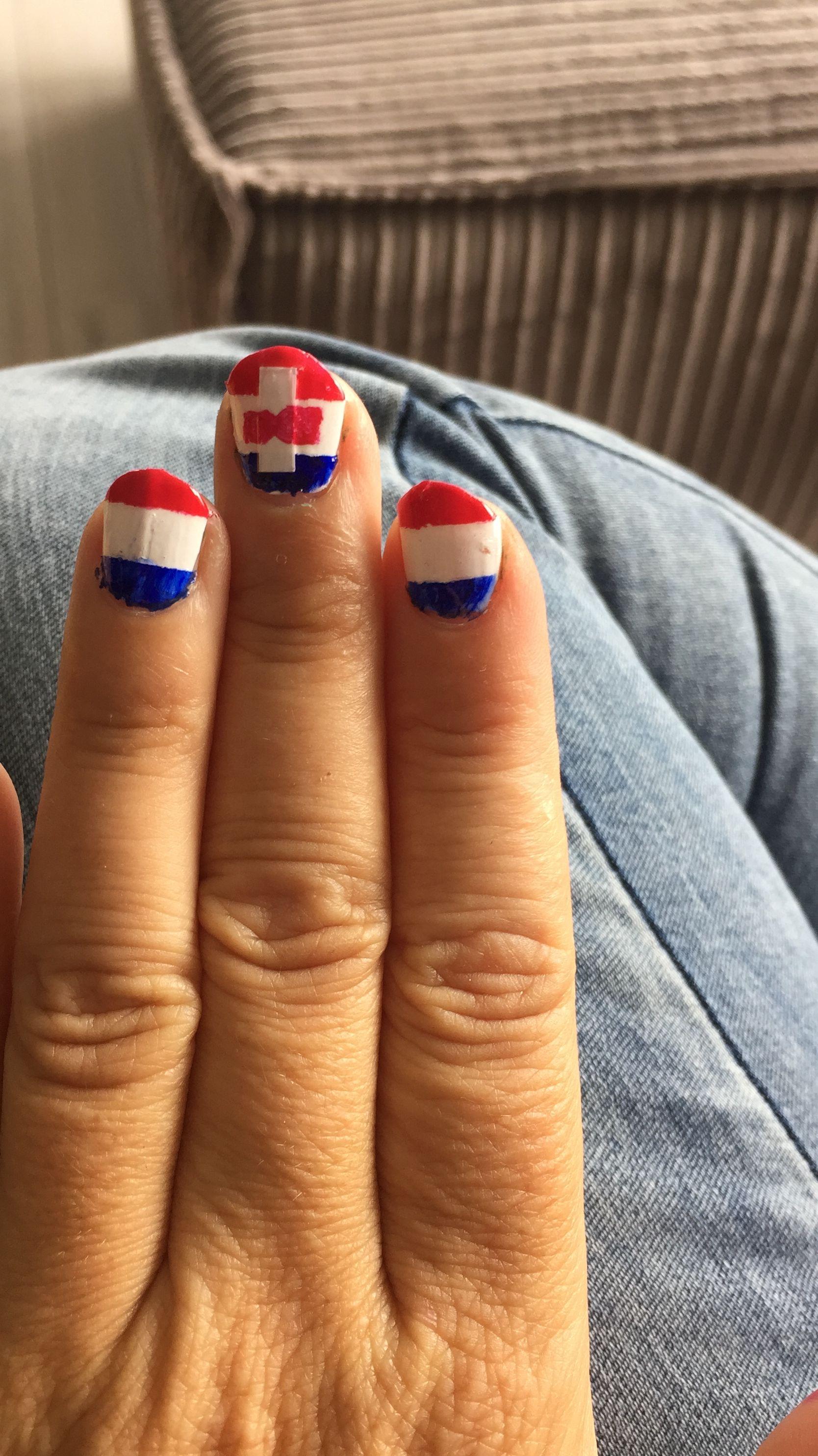 Dam tot Dam 2016 met op mijn andere hand de NEderlandse en de Zaanse vlag