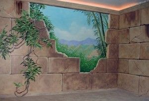 Mayan Ruins Mural for boy's bedroom,  Paonia, CO  by Charles Andrade