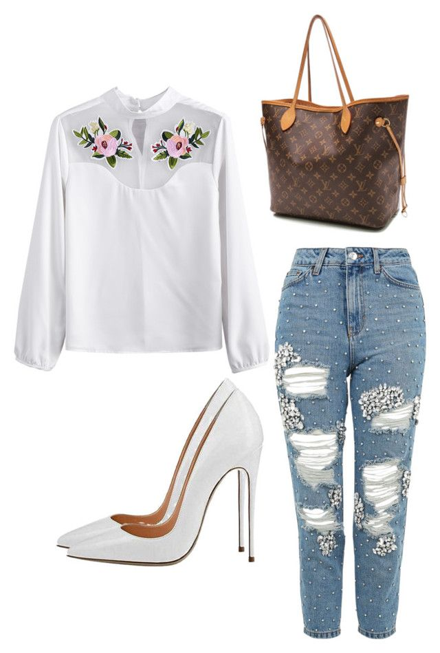 """""""Untitled #389"""" by fashionicon100 ❤ liked on Polyvore featuring Topshop and Louis Vuitton"""