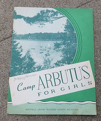 Vintage 1954 camp arbutus for #girls michigan information #booklet