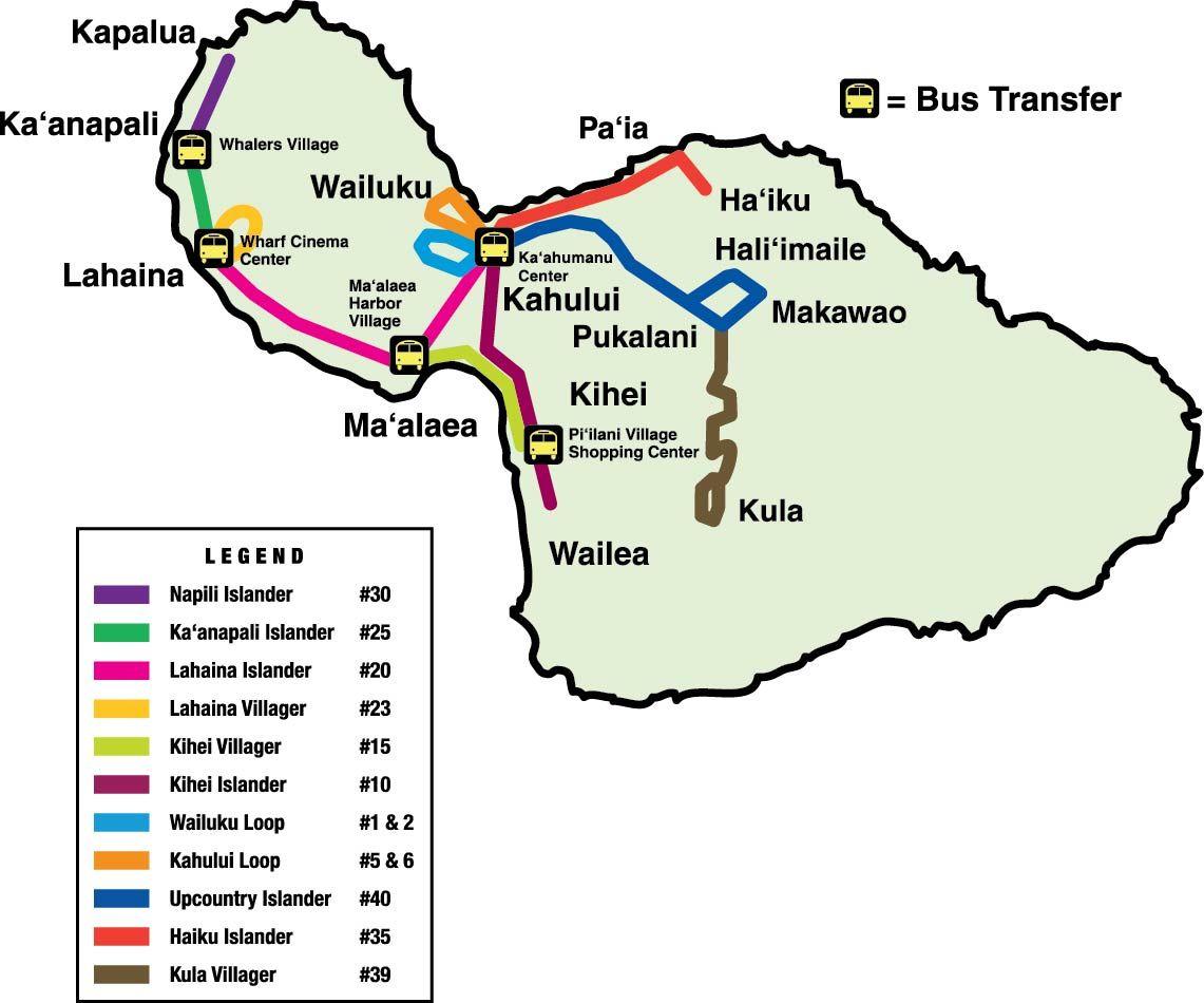 maui bus route map | hawaii trip in 2018 | pinterest | maui, maui