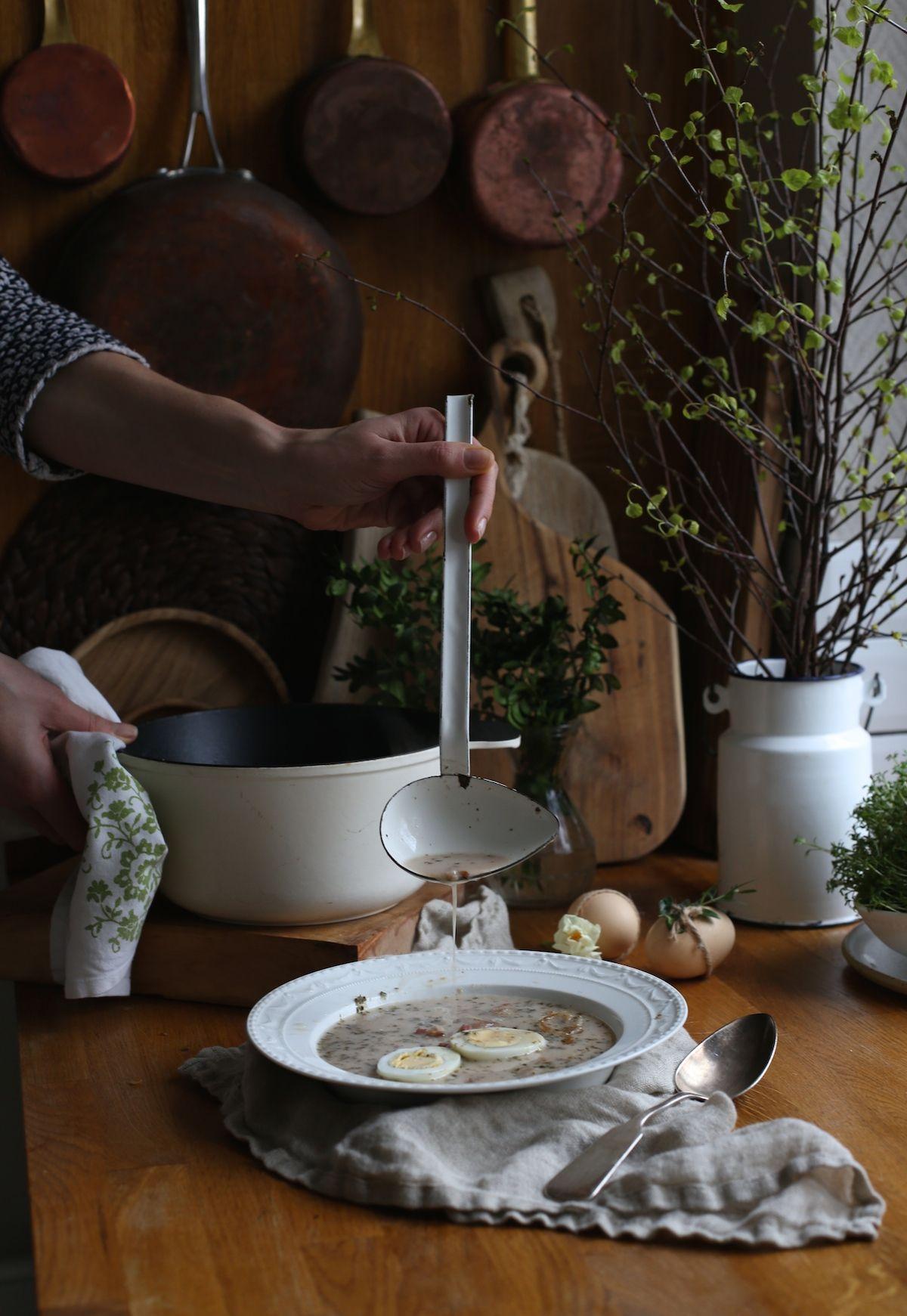 Barszcz Bialy Z Prawdzikami Food To Make Tiered Cakes Cooking