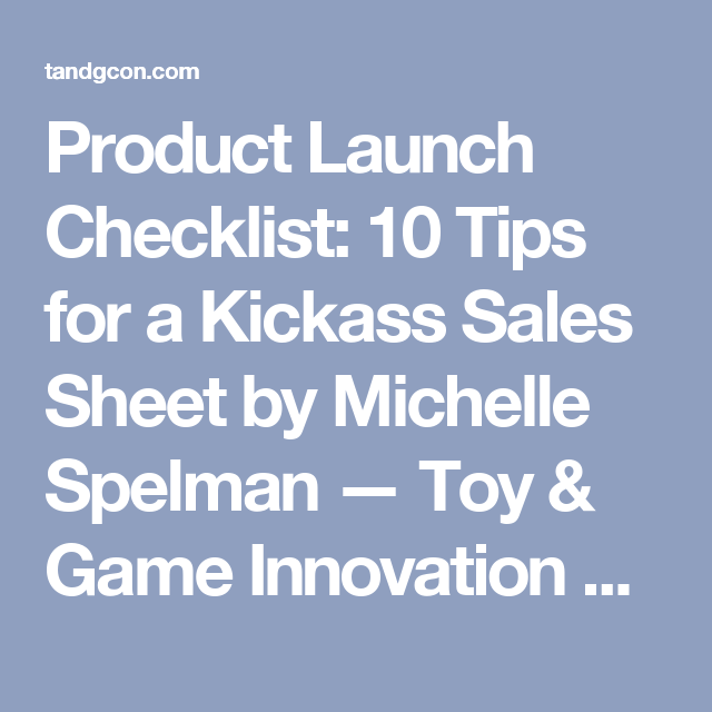 Product launch checklist 10 tips for a kickass sales sheet by product launch checklist 10 tips for a kickass sales sheet by michelle spelman malvernweather Gallery