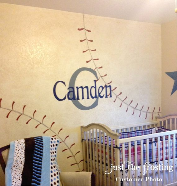 Boys Name Decal, Childrens Decor Vinyl Wall Decal Monogram for ...