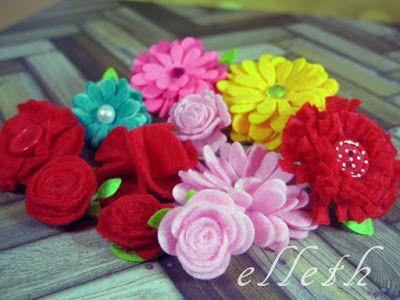 Craft Style Blog Goscinna Projektanka Elleth Jak Zrobic Kwiaty Z Filcu
