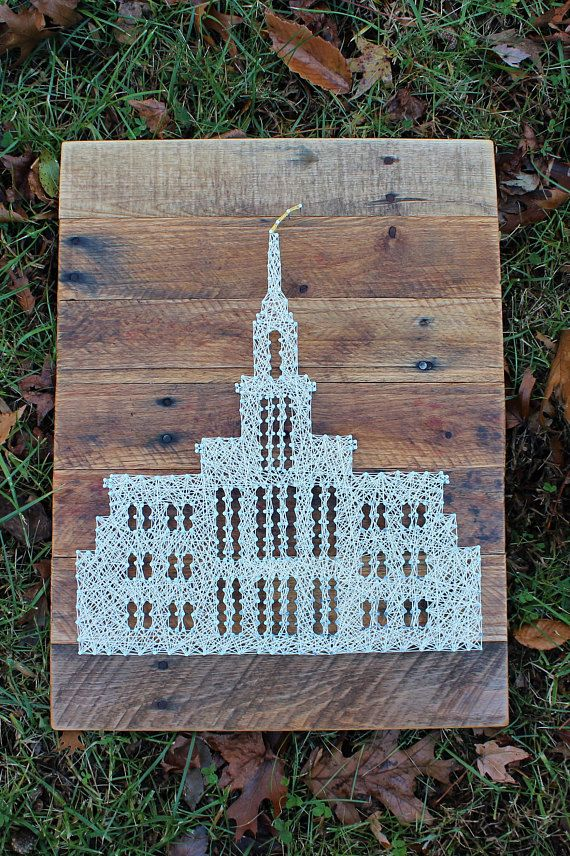 Payson Temple - LDS - Mormon String Art - String Art - Wall Decor ...