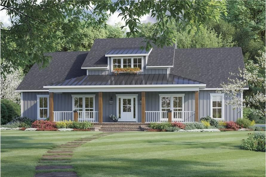 3 Bedroom 2041 Sq Ft Ranch Plan with Walk in Pantry