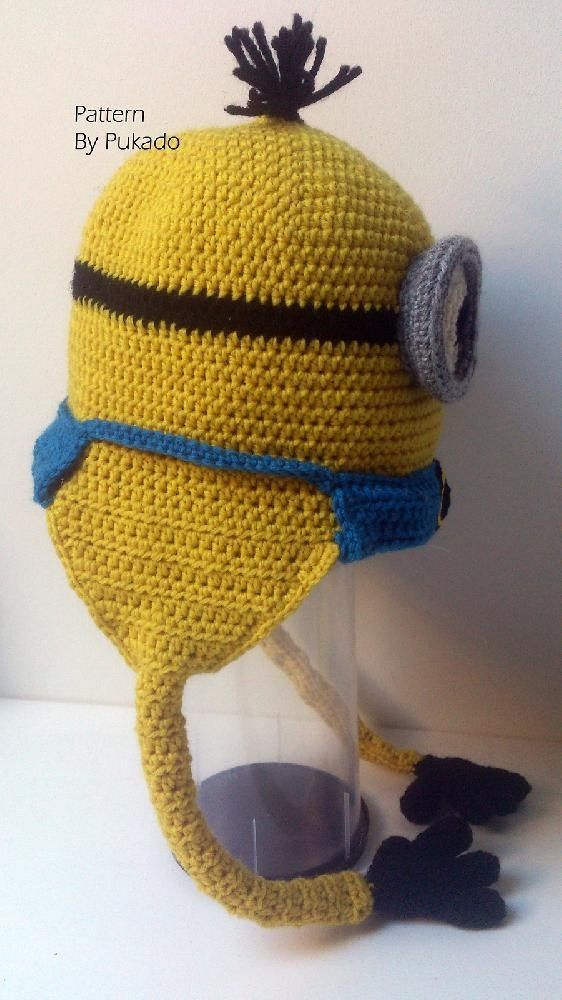 Kevin the Minion Hat - Perfect Gift Crochet pattern by Patricia Stuart | Knitting Patterns | LoveKnitting #minioncrochetpatterns