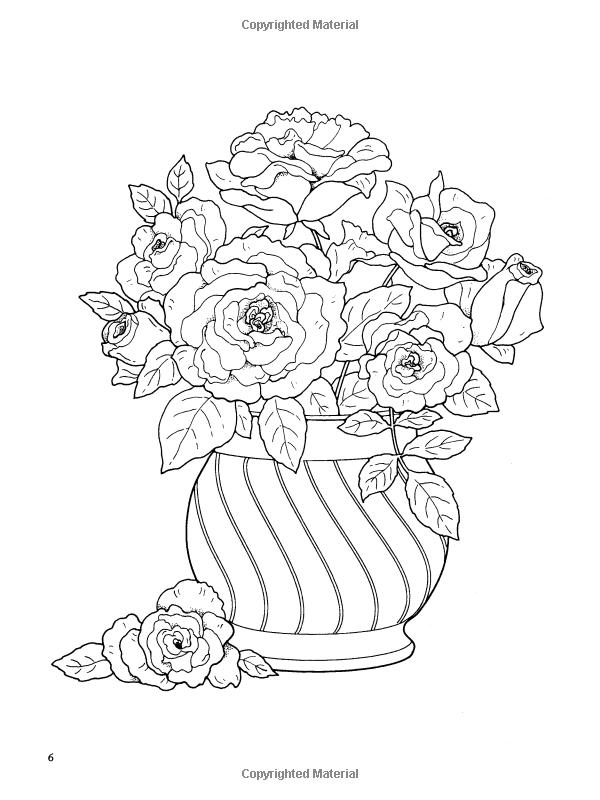 Ramos de flores para colorear libro (Dover Naturaleza Coloring Book ...