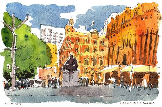Urban Sketchers: My Melbourne & Sydney Travelogue (6-16 Nov 2015)