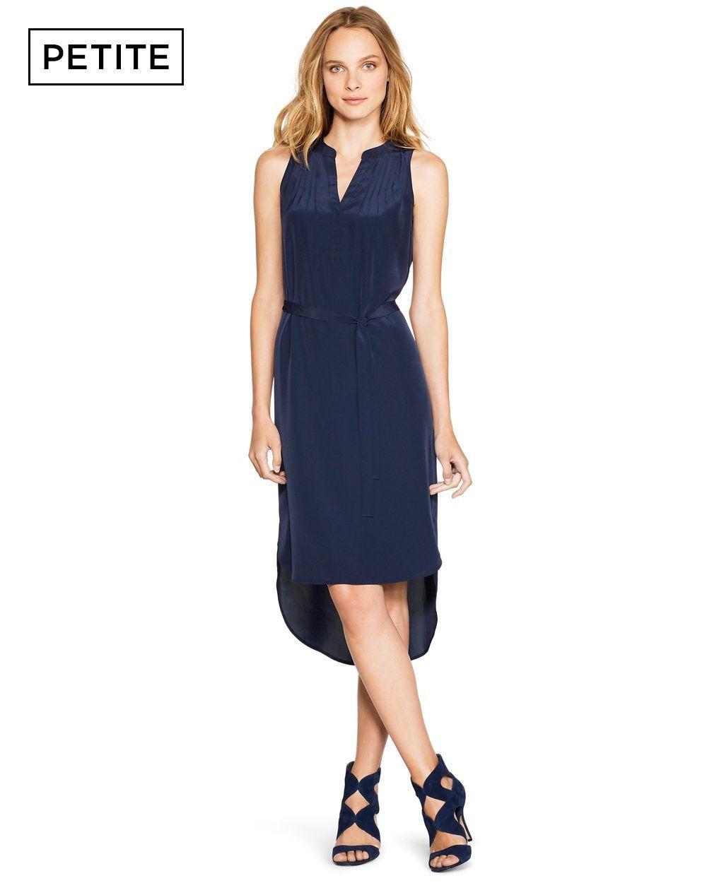 51a5c9f599ef Petite Sleeveless Midi Shirtdress. Petite Sleeveless Midi Shirtdress Dress  Skirt ...