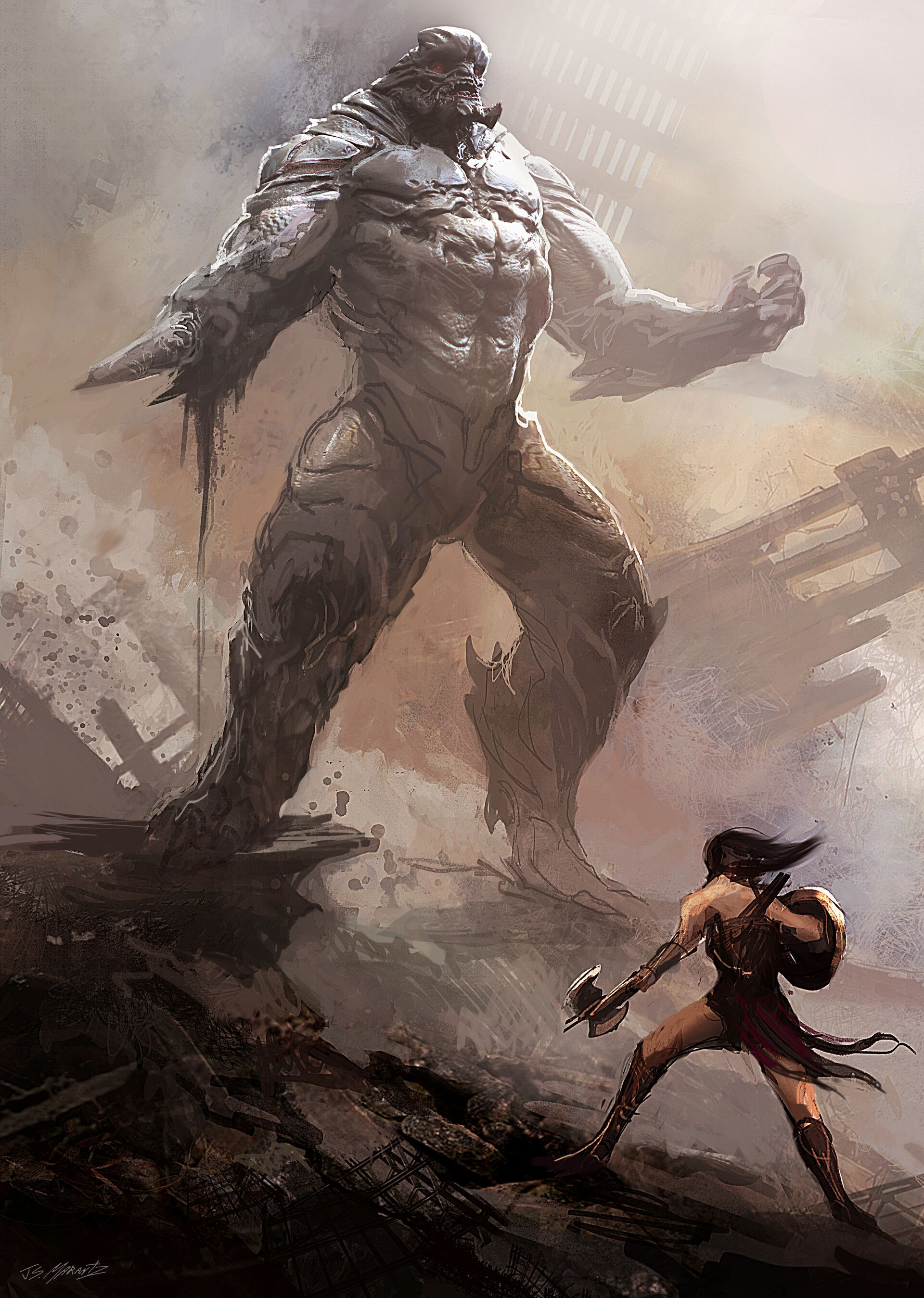 Artstation Doomsday Conceptart For Batman Vs Superman Jerad