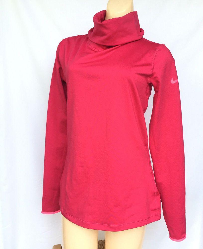 Nike pro dri fit womens large pullover turtleneck running