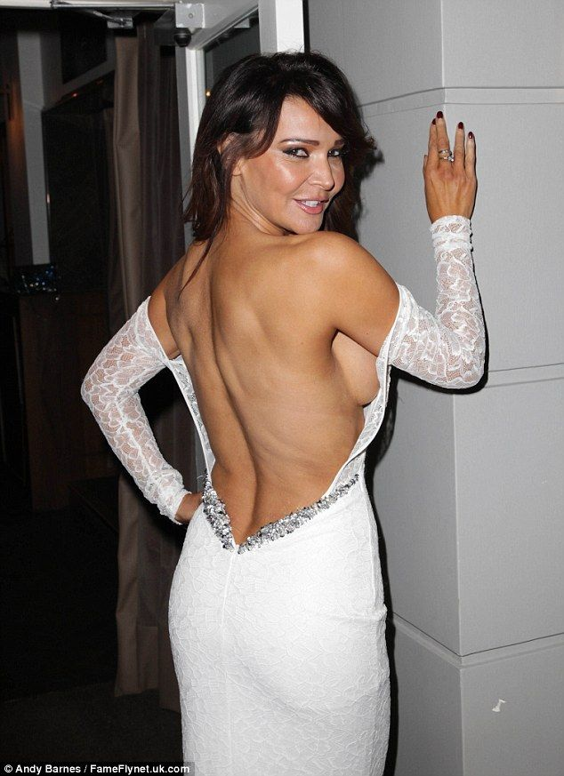 Lizzie Cundy Shows Off Some Serious Side Boob Super