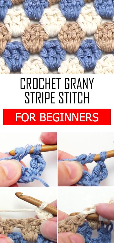 Crochet The Granny Stripe Stitch - For Beginners