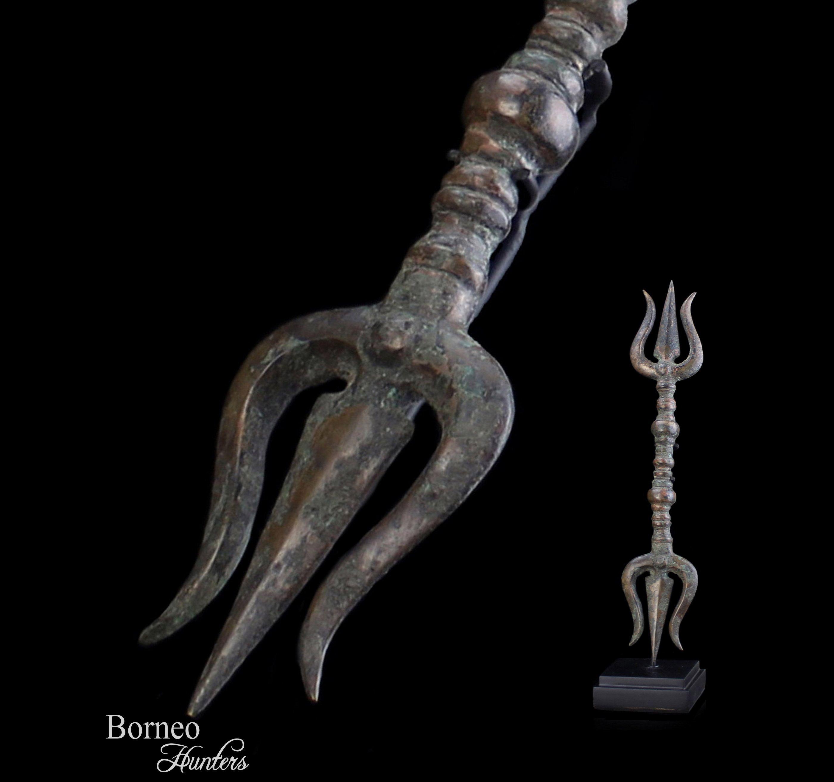 9470b84e8e129 Bronze Trident Trishul Soolum 14.4
