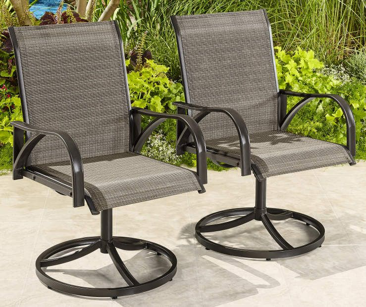 Astonishing Brentwood Sling Swivel Rocker Chairs 2 Pack At Big Lots Pdpeps Interior Chair Design Pdpepsorg