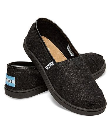 Love this Black Glimmer Classic - Youth by TOMS on #zulily! #zulilyfinds