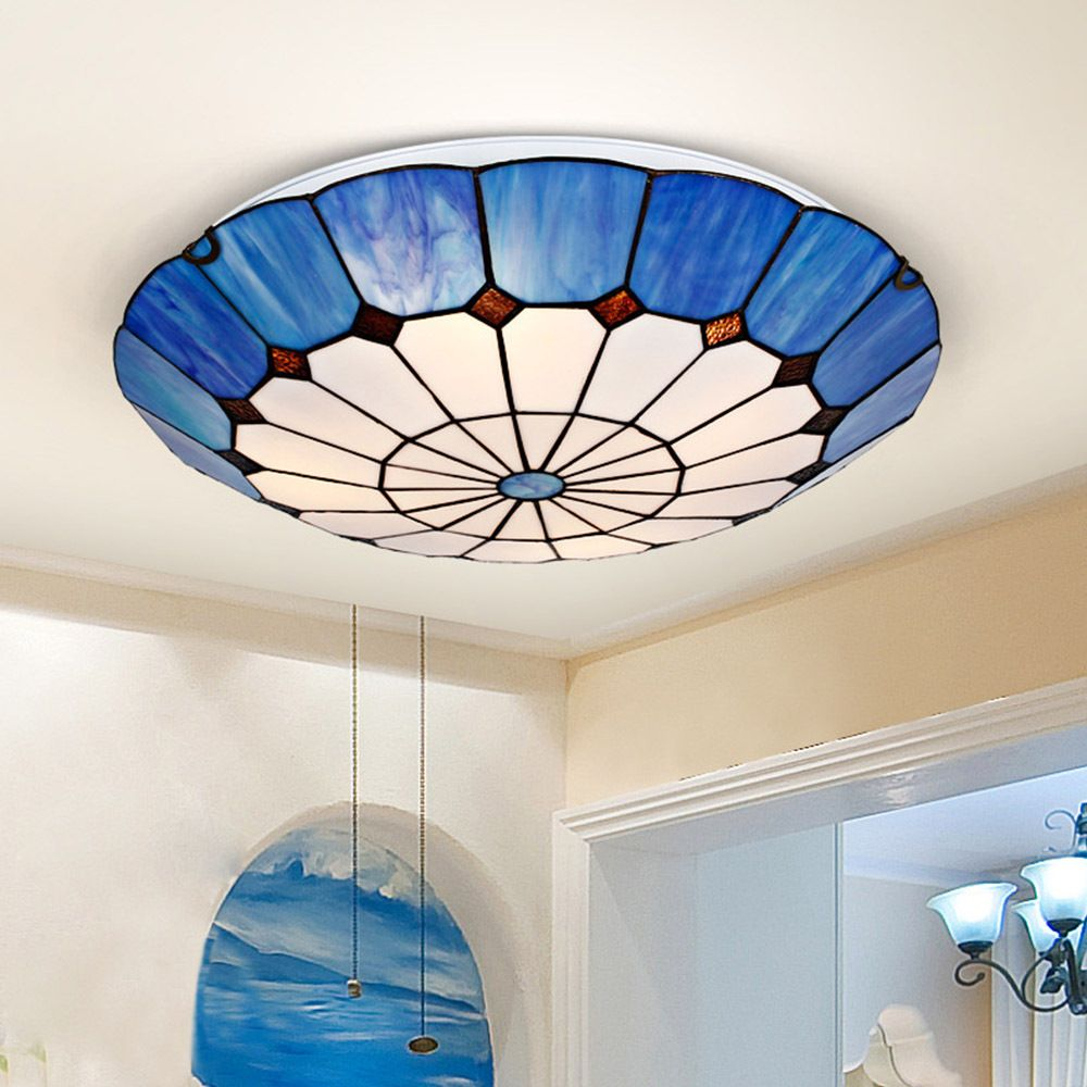 16 Absolutely Gorgeous Mediterranean Dining Room Designs: LED Ceiling Light Tiffany Lamps Cloud Shaped Ceiling Lamp