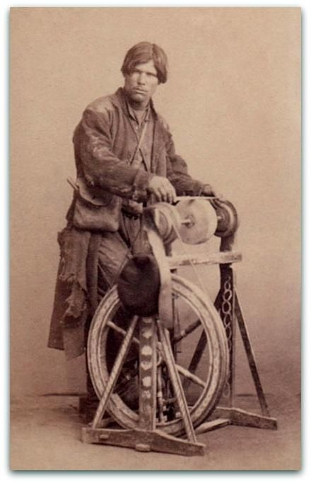 Treadle powered grinding wheel