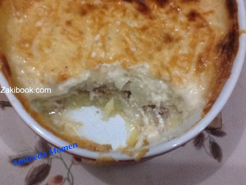 صينية البطاطس بالبشاميل بالصور زاكي Food Breakfast Oatmeal