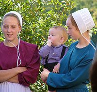 Old Order Amish women