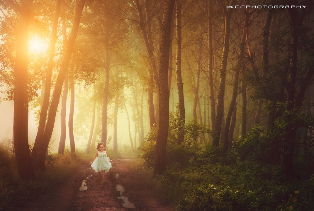 Little girl/ running home. by Kevin Cook on 500px