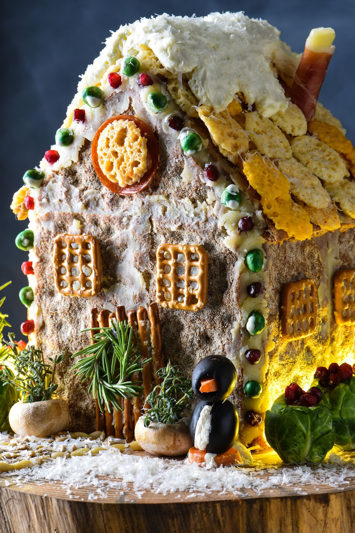 Savory Gingerbread House (Cheese & Cracker House in 2020