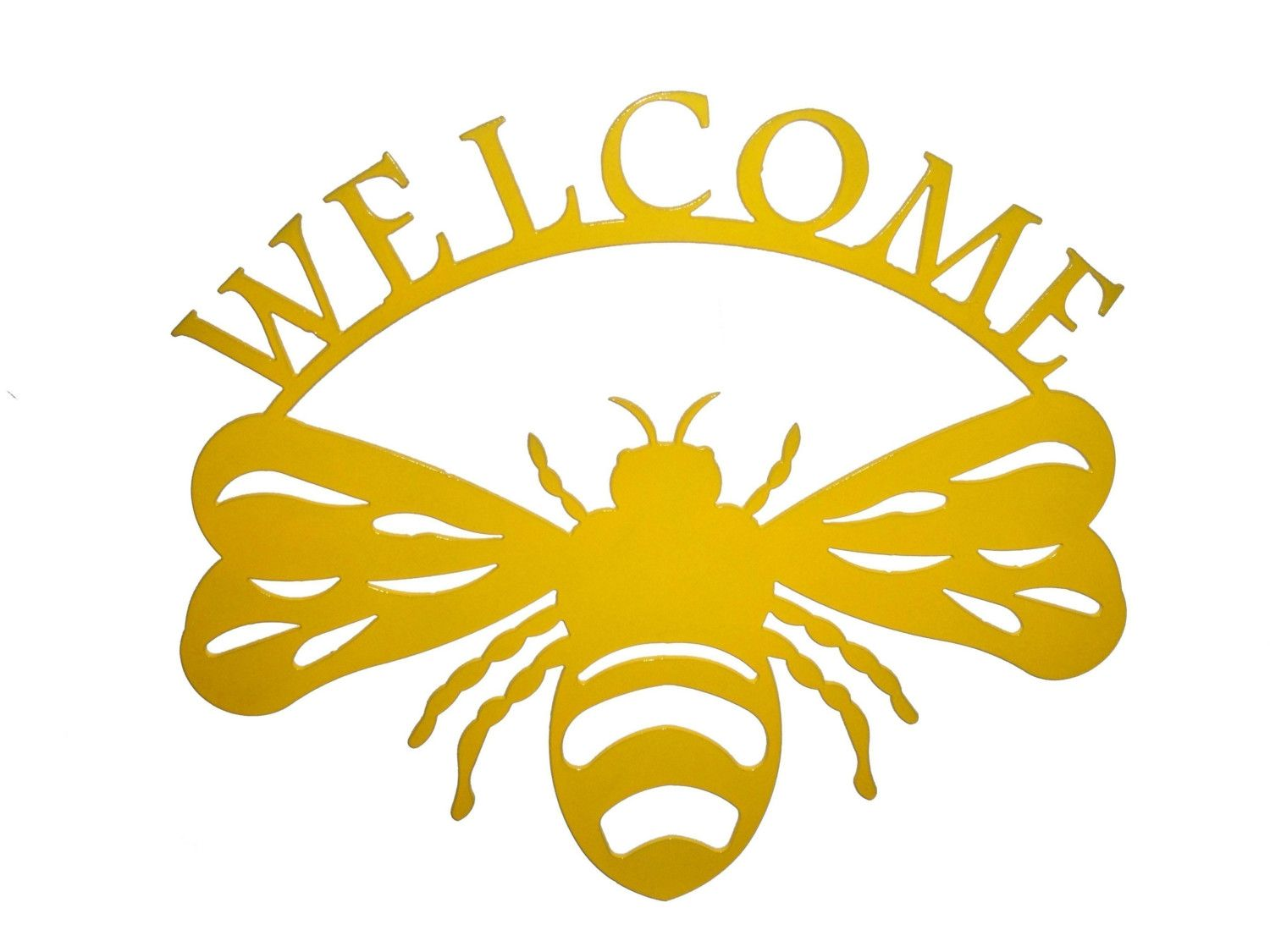 Bumble Bee Welcome Metal Wall Art (N) | Bee drawing, Bumble bees and ...
