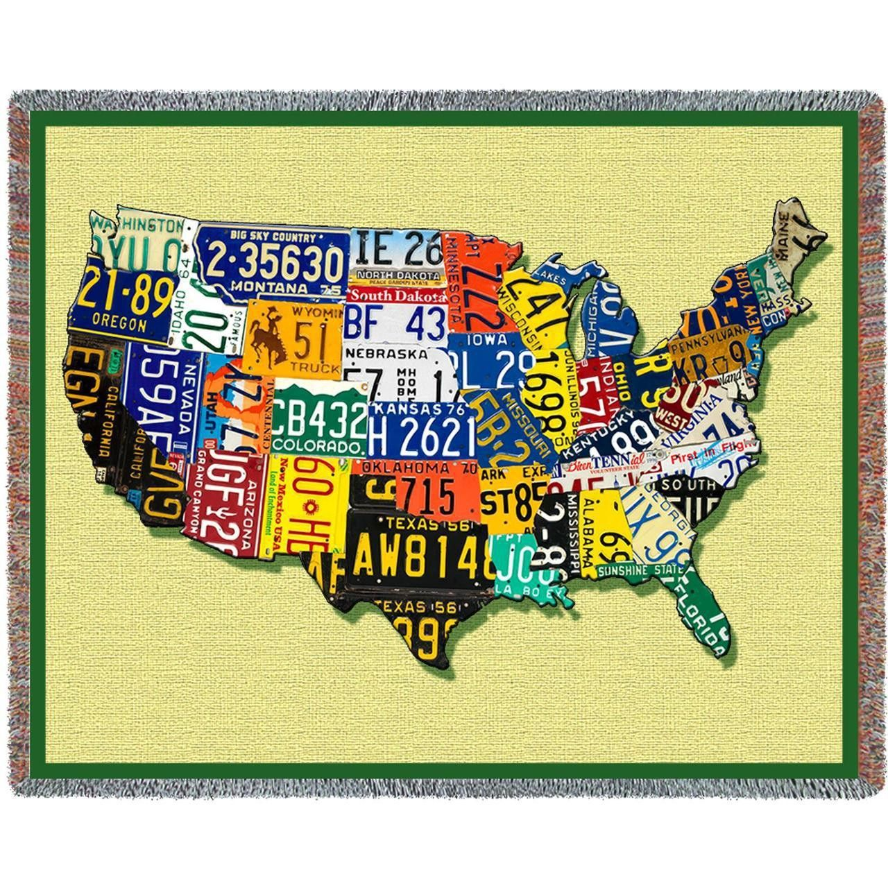 Usa Tags Art Tapestry Throw Woven Blanket Tapestry Throw Tapestry
