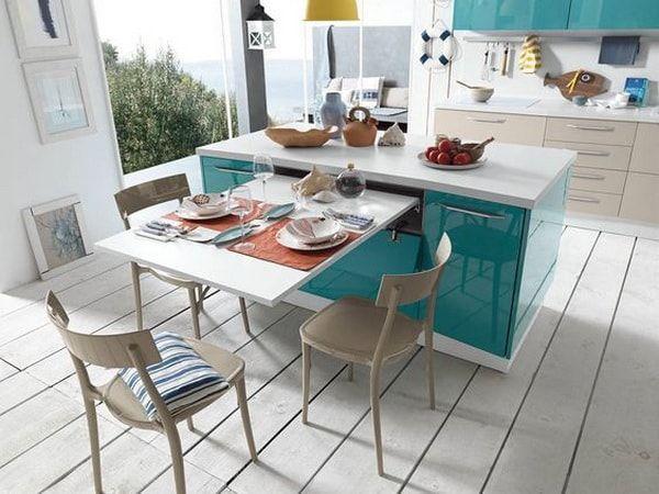 Barras de cocina Ideas de muebles funcionales para cocinas Islas - cocinas con isla