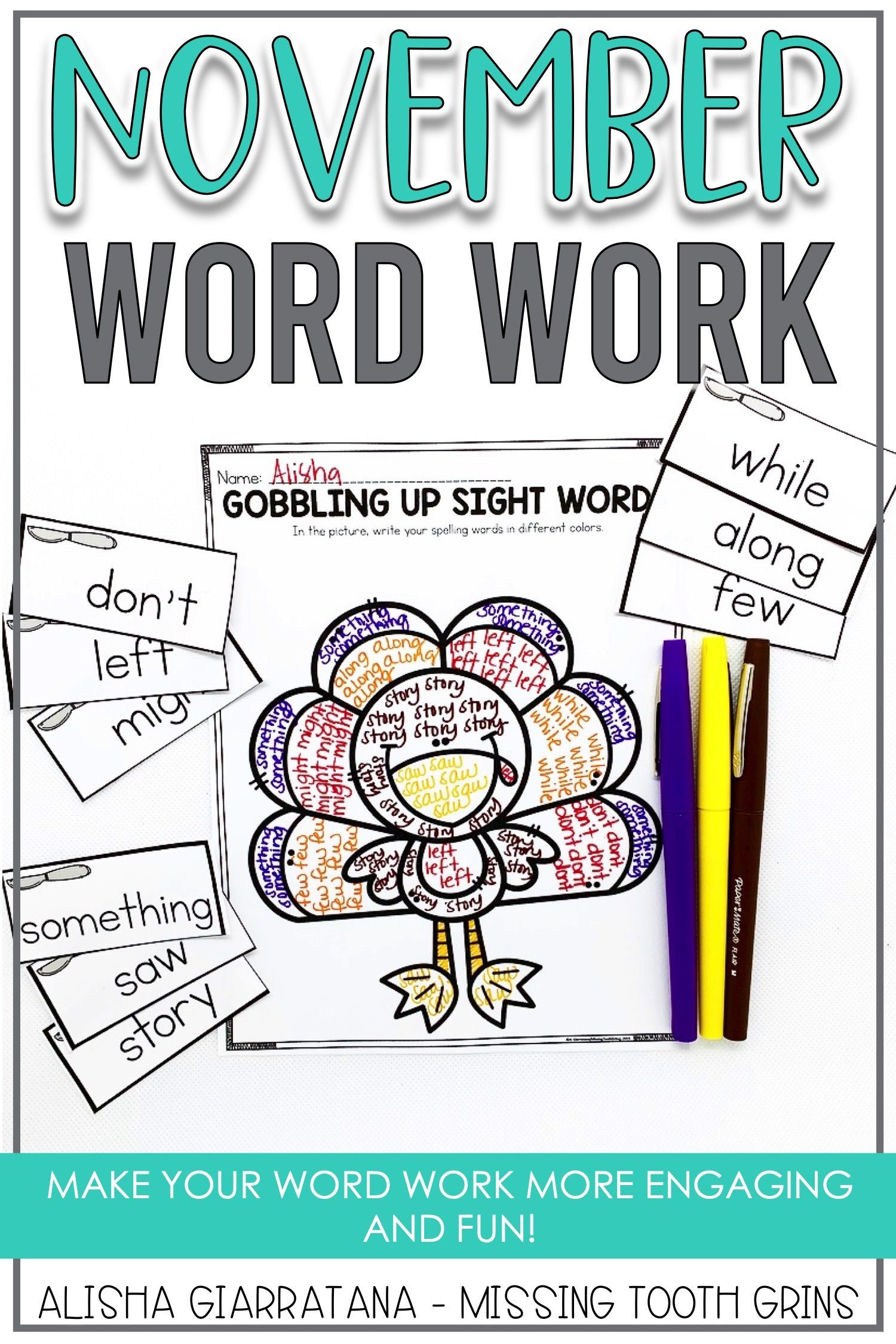 Word Work Center November