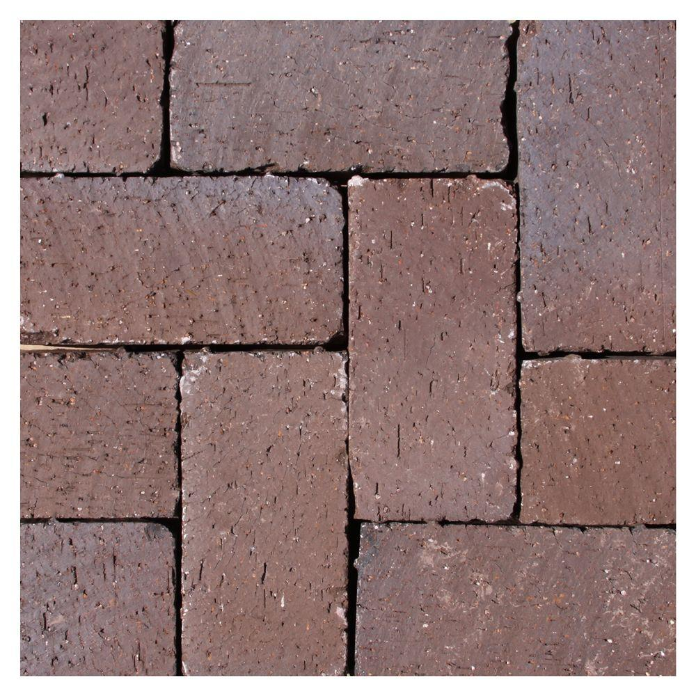 Mission Split 8 In X 4 In X 1 63 In Tumbled Clay Brown Flash Paver 073632408 Paver Clay Pavers