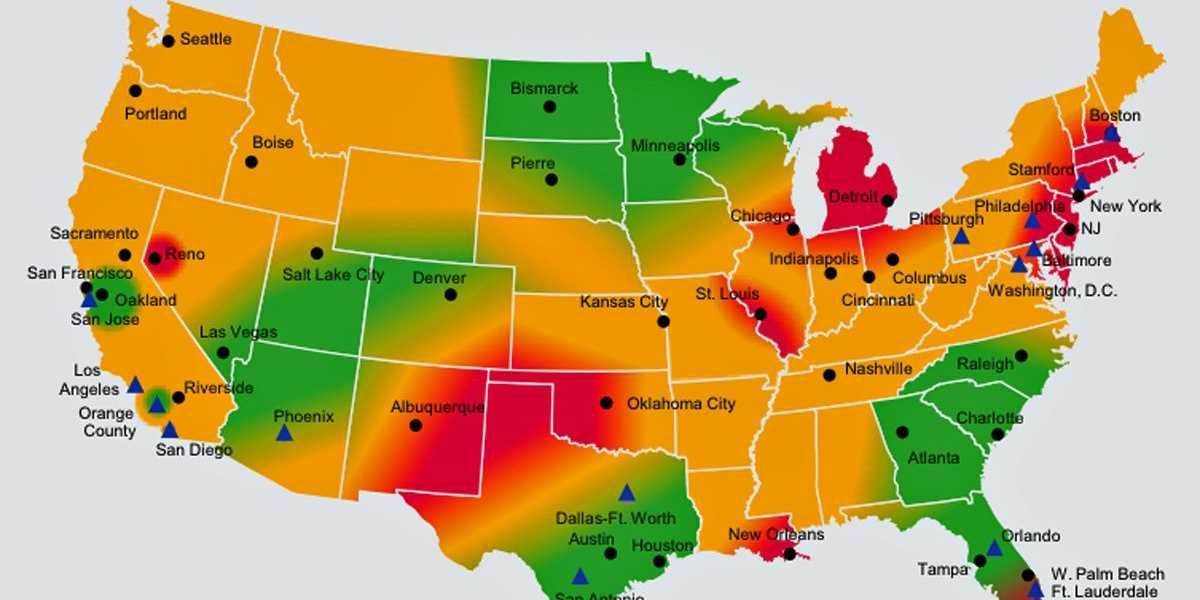 The State Of The Us Economy In One Awesome Annotated Heatmap The - Heat-map-us